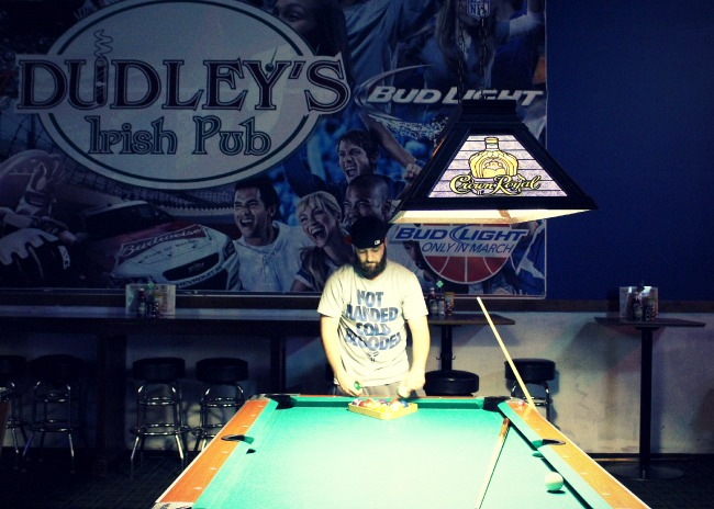 Dudley's is a great place to play pool with your buddies.